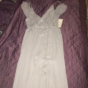 Light lilac maxi dress